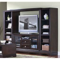 EP360-974-491BR-KIT Kathy Ireland Home 4-Piece Entertainment Wall by Martin