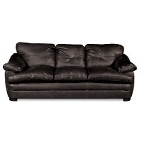 BUCKLEYBLACKSO 90  Black Upholstered Sofa