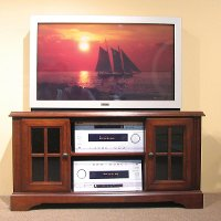134848CONSOLE Oak Furniture West 48  TV Stand