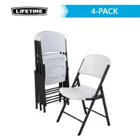 4204 Lifetime Products 4-Pack White Folding Chairs