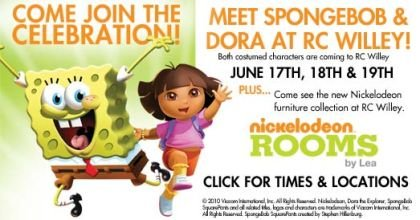 Spongebob And Dora Are Coming To Town Rc Willey Blog