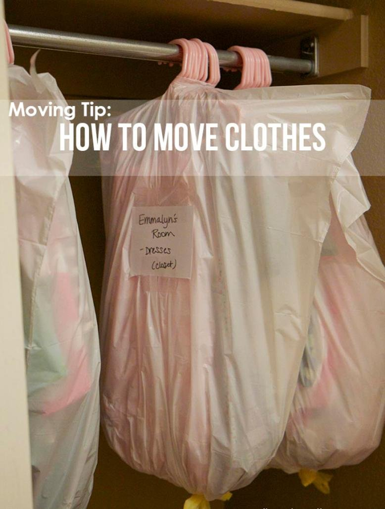 clothes with move Clothes are some of the last things we pack up when moving, but they require some of the most between the day you pack and the day you move-in, plus some clothes for a few days to a week after.