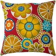 Outdoor Flower Pillow