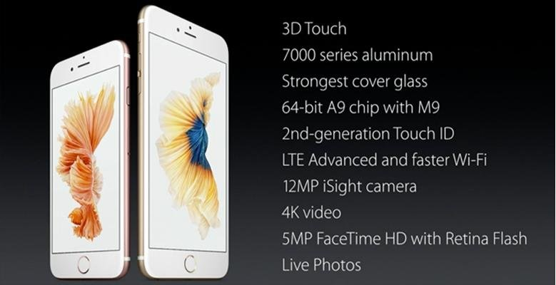 iphone 6s features