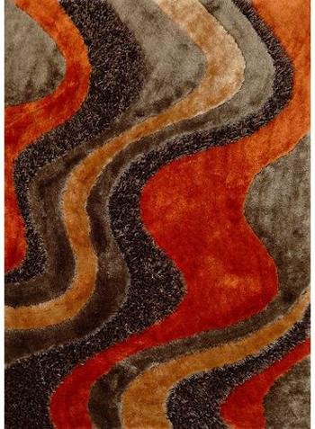 fall colored rug