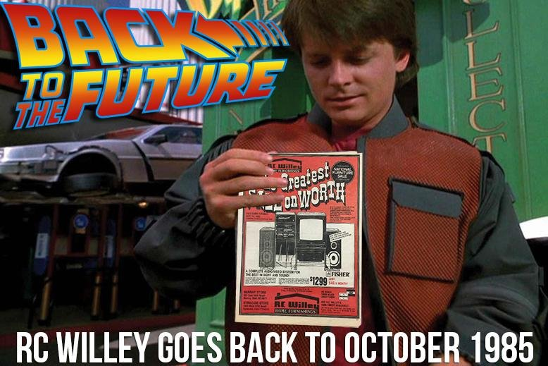 Back to the future day rc willey