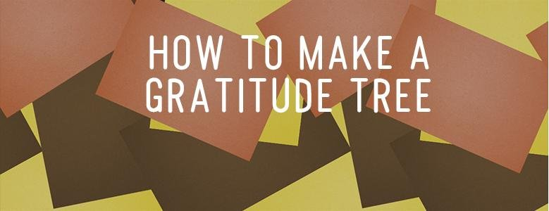 how to make a gratitude tree