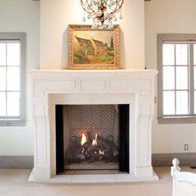 custom venetian fireplace