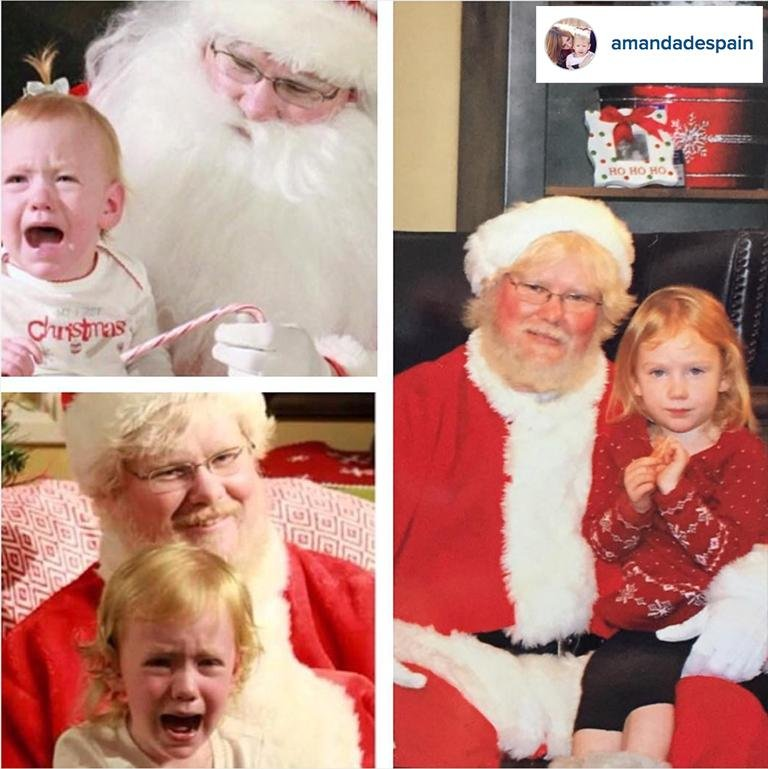 funny santa photo