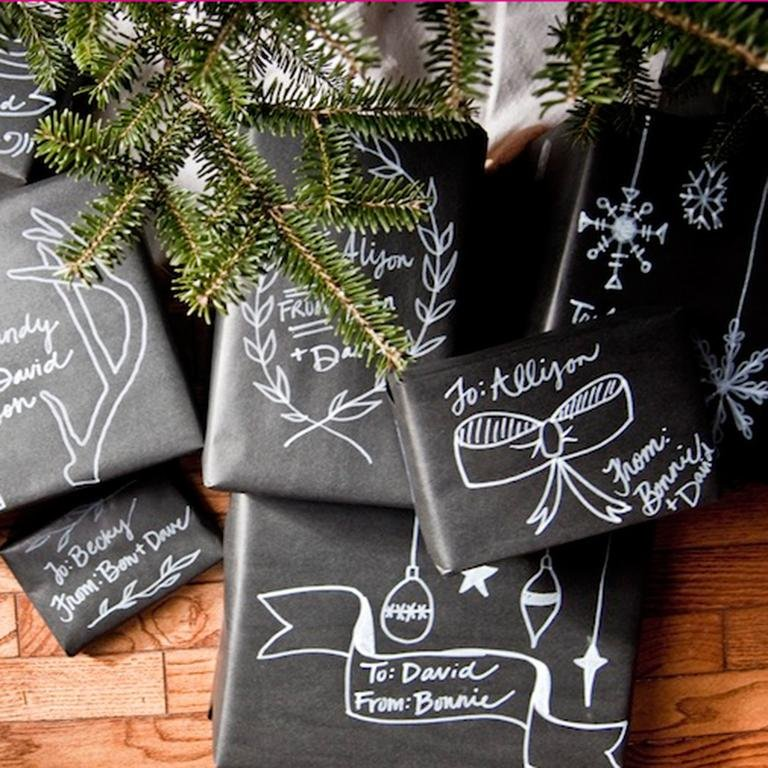 Christmas Chalkboard Wrapping paper