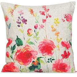 water color throw pillow floral
