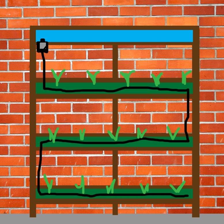 Gutter Garden Drip System