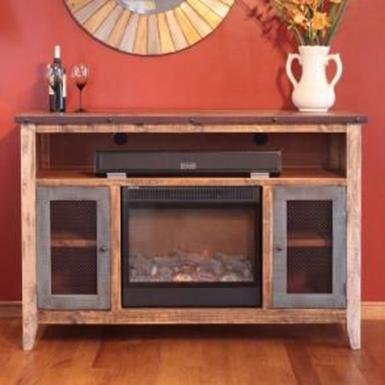rustic living room tv stands