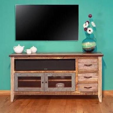 rustic living room ideas - tv stand