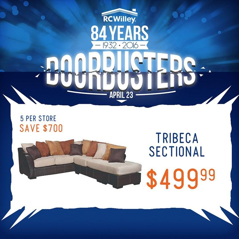 RC Willey Sectional Doorbuster