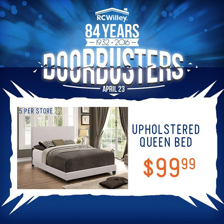 RC Willey Doorbusters bed