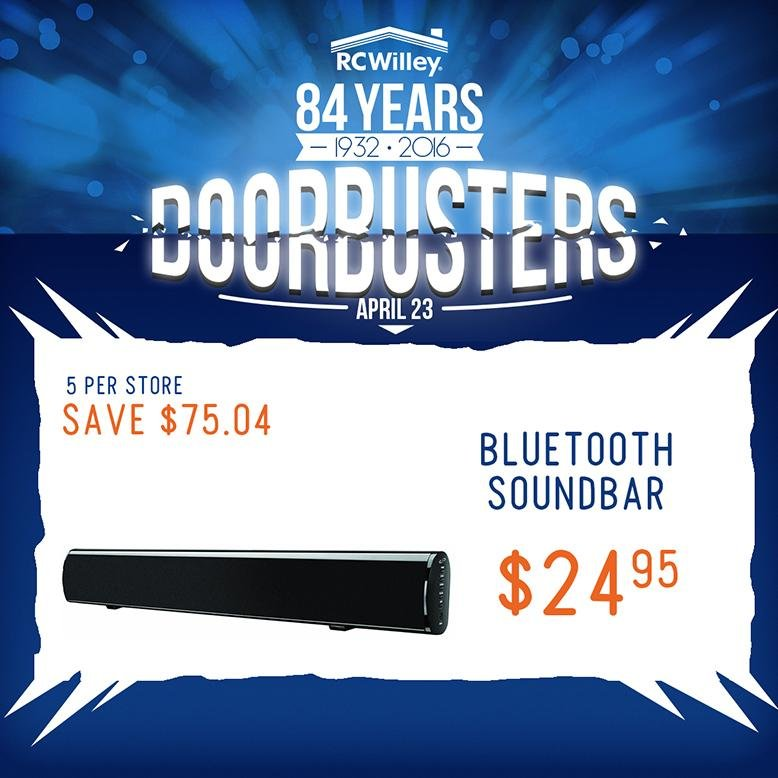 RC Willey Soundbar Doorbuster