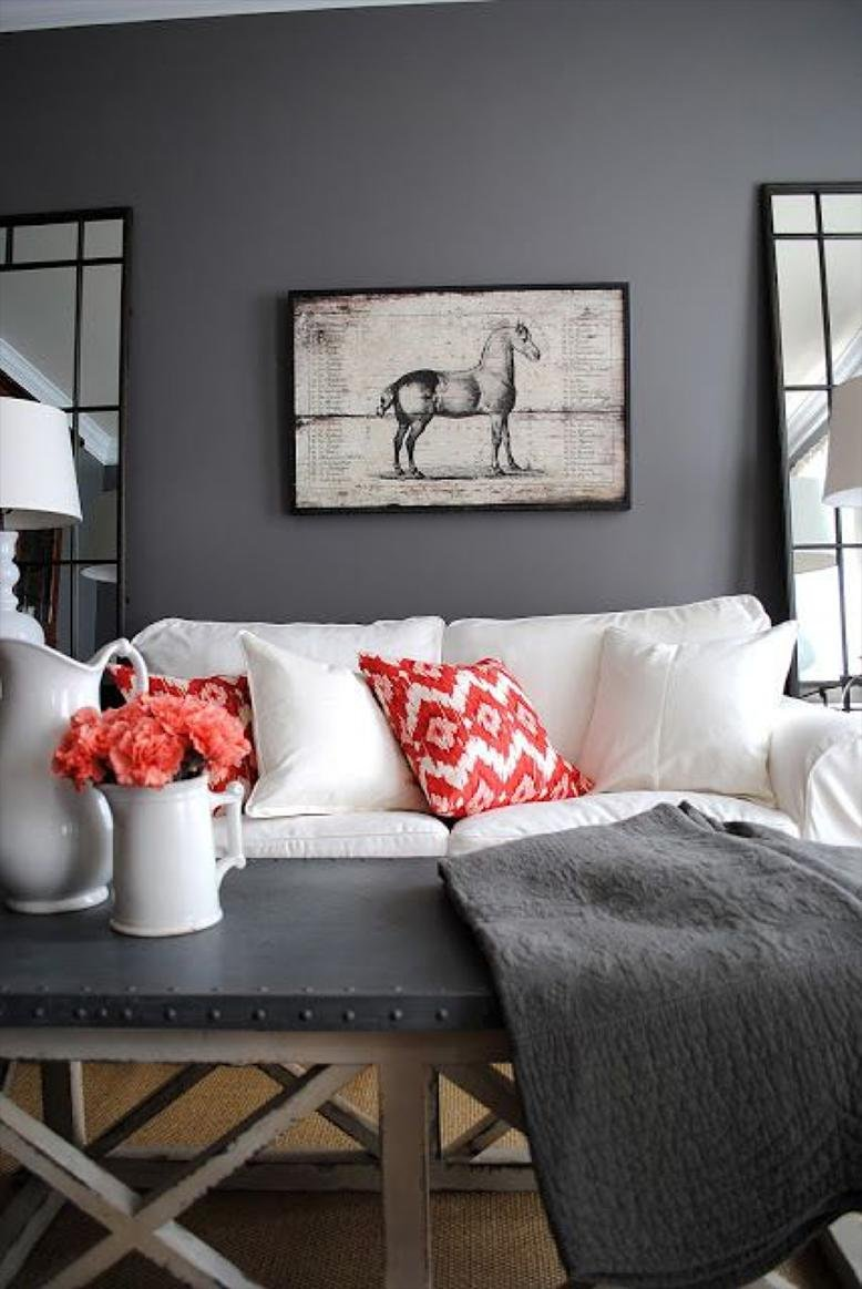 Living room paint ideas rc willey blog for Gray living room paint