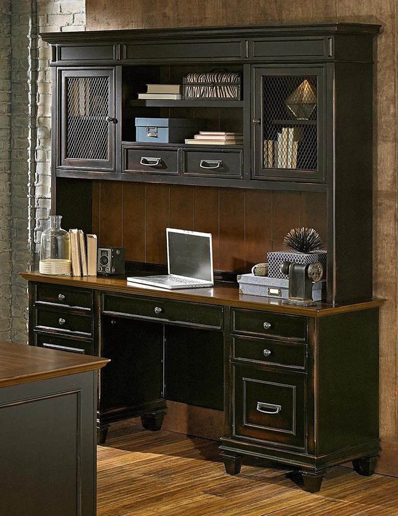 black office set