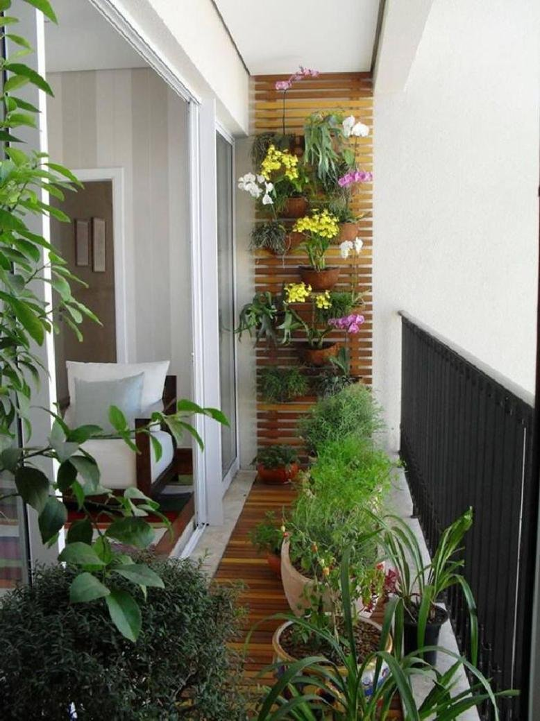 balcony with plants