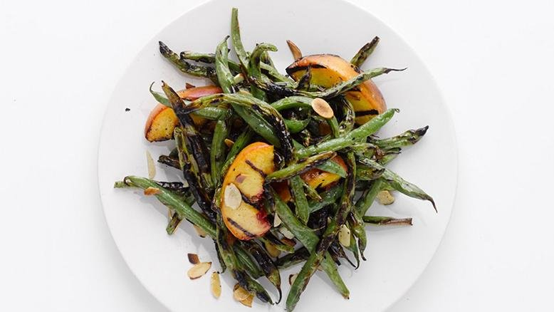 asparagus and peach