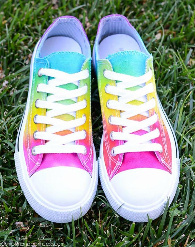 tie-dye shoes