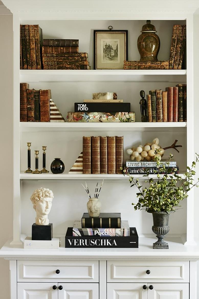 ... Decorating With Books Below. Bookshelf