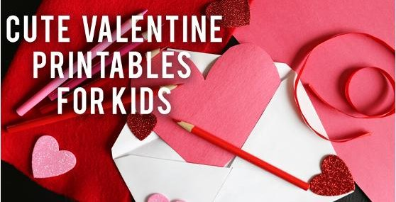Cute Valentine Printables for Kids   RC Willey Blog
