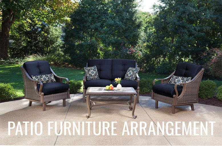 There Is No Set Guide In Figuring Out A Patio Furniture Arrangement Every