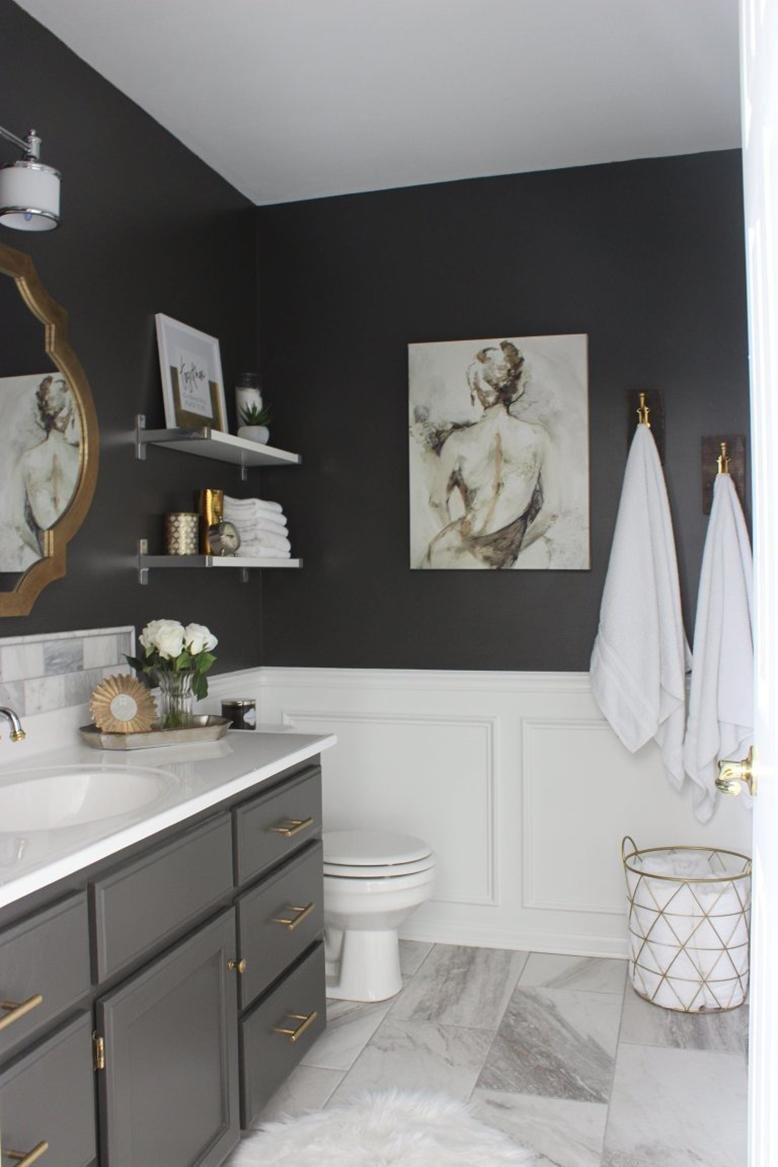 charcoal bathroom