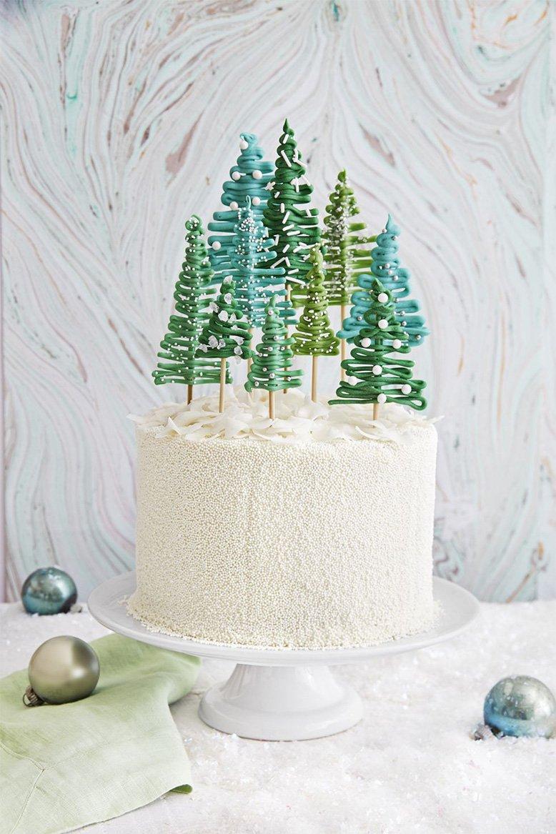 pine tree cake