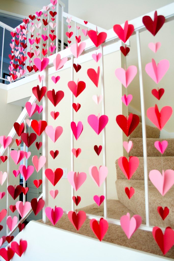 3D Heart Paper Garlands
