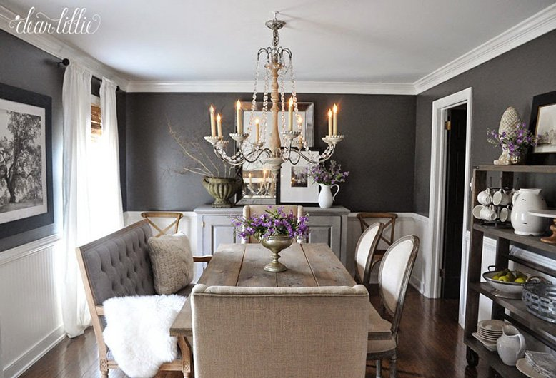 charcoal dining room