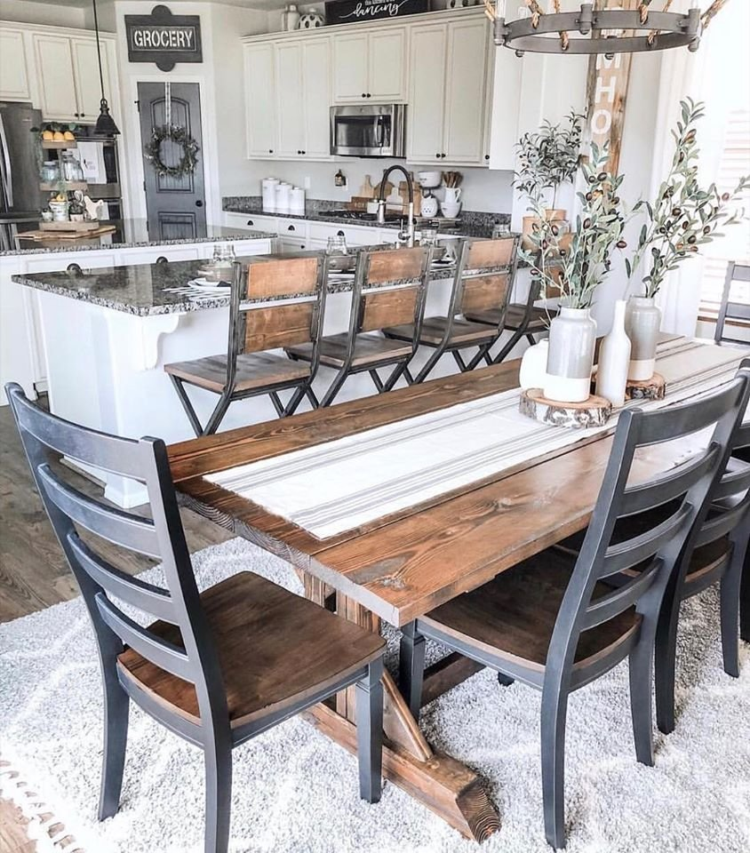 Farmhouse bar stools and decor