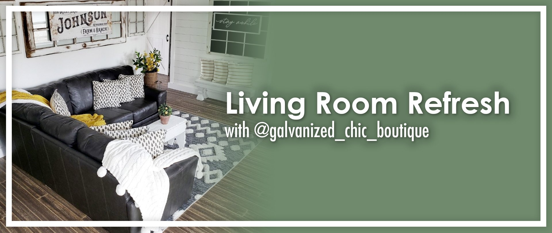 Living Room Refresh With @galvanized_chic_boutique