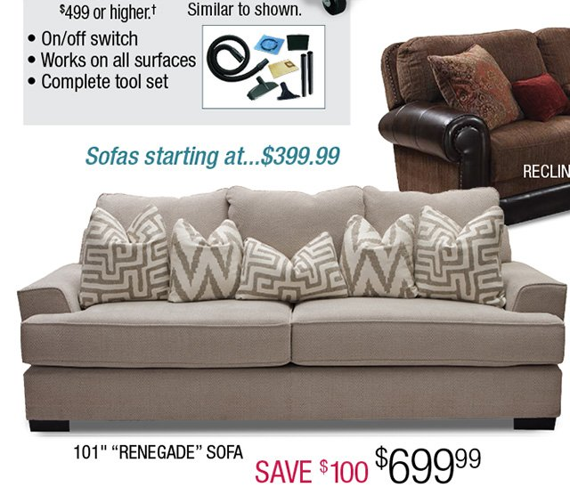 Columbus Day Savings. Sofa Save $100 ...