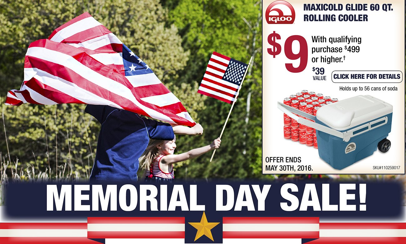 Memorial day sales event shop storewide savings rc for Memorial day sale patio furniture