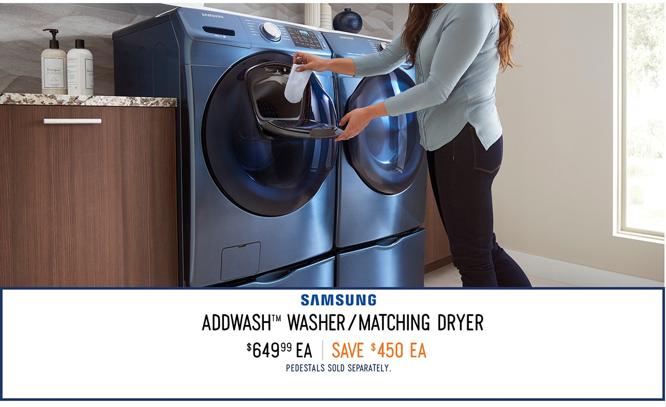 Addwash Washer and Dryer. Innovate Your Home with Samsung Smart Appliances   RC Willey