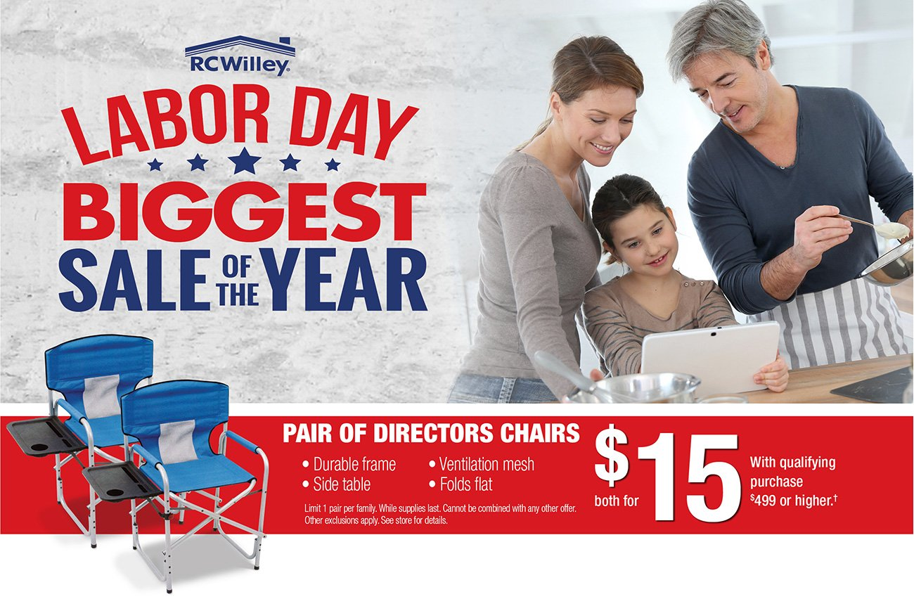Labor Day Sale And Directors Chairs