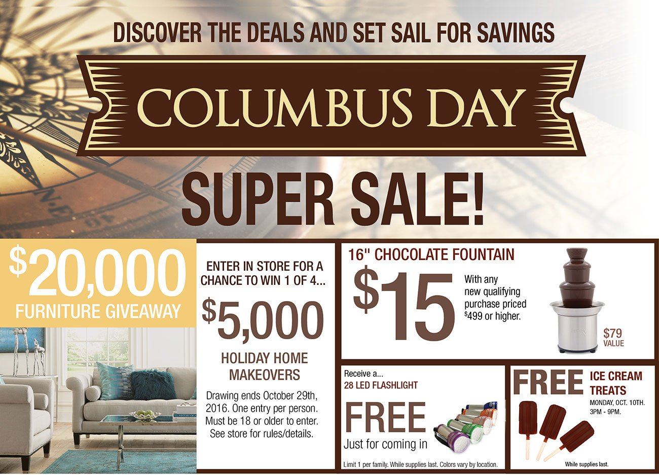 Nice Columbus Day Sale