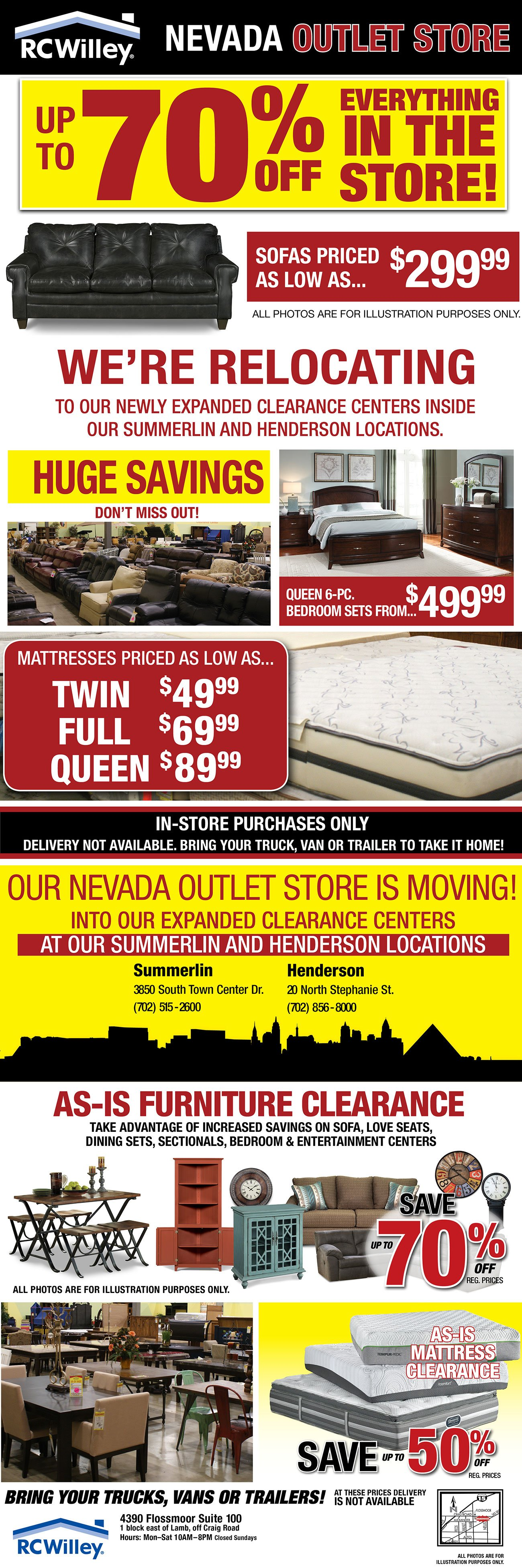 Nevada Outlet Store · Furniture · Electronics