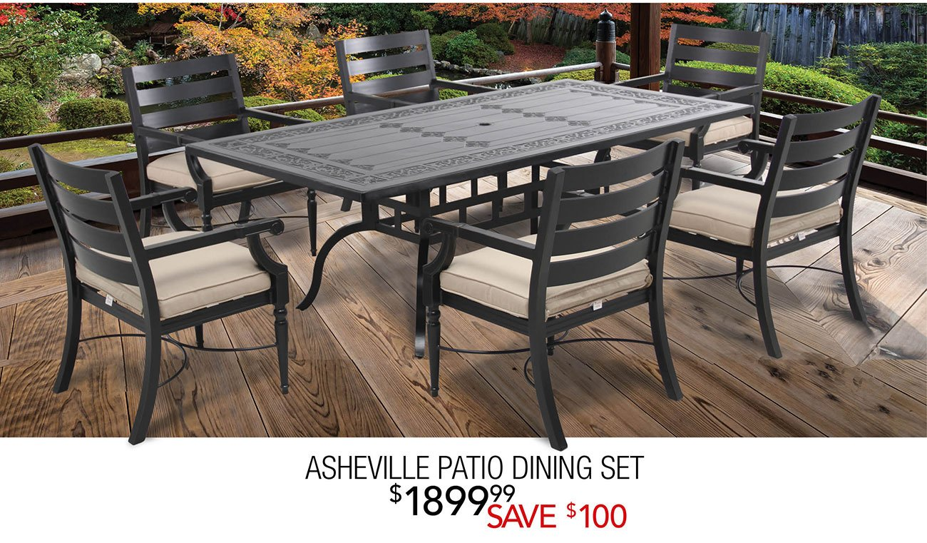 Asheville Patio Dining Set - Patio Party Friday Night + Instant Outdoor Furniture Savings RC