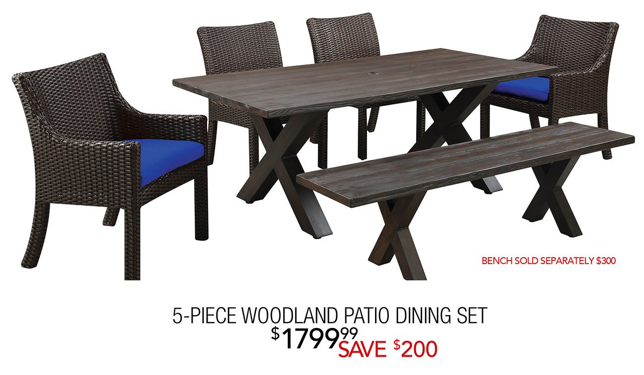 Patio Party Friday Night Instant Outdoor Furniture Savings RC - Woodland patio furniture