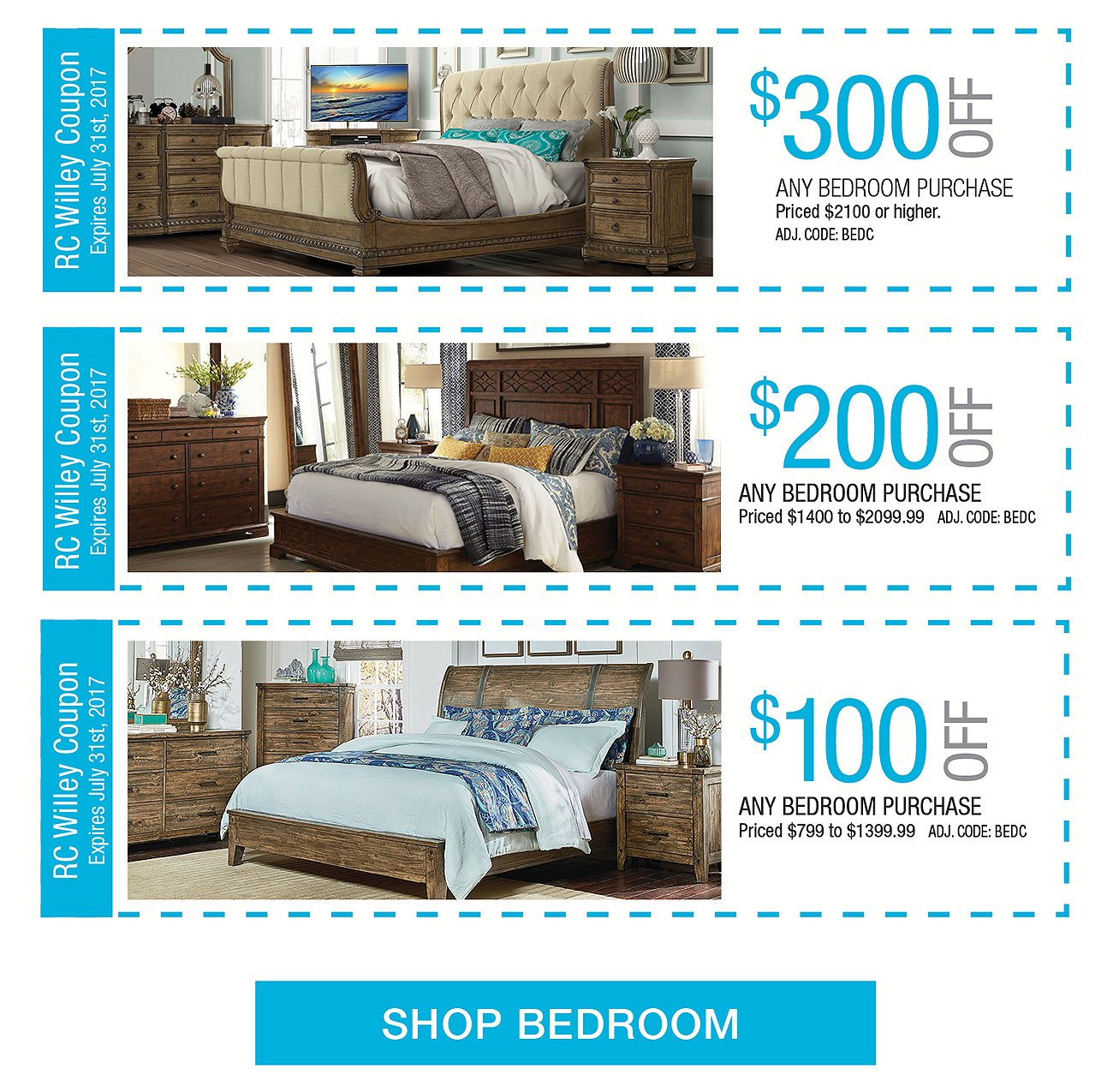 bedroom coupons