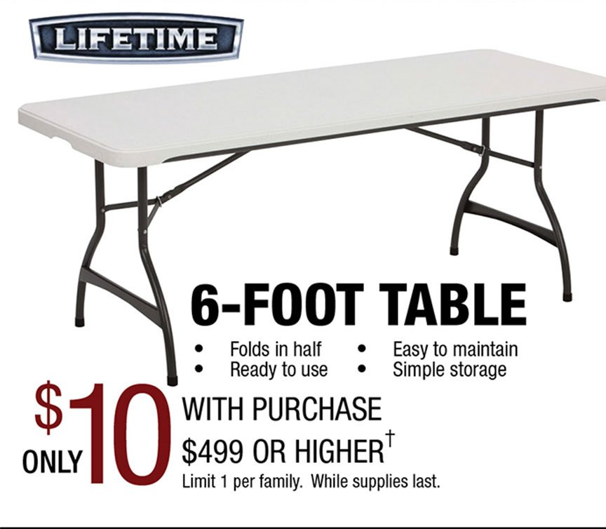 Pre Black Friday Sale Header. Lifetime Folding Table ... Part 85