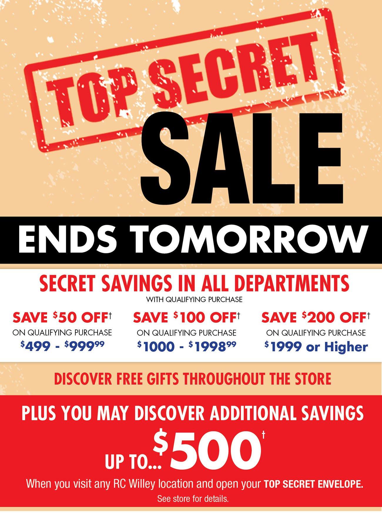 Top-secret-sale