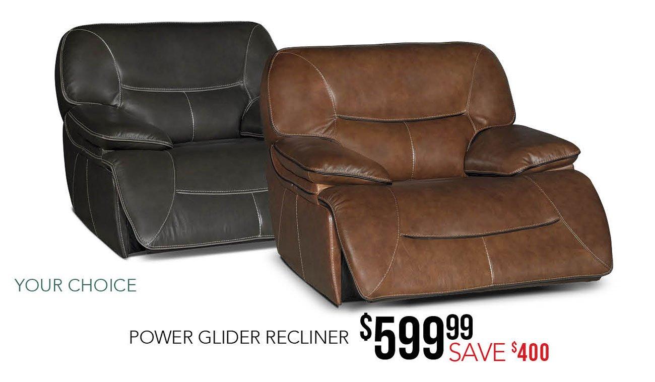 Power-glider-recliner