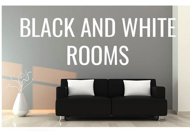 black-and-white-rooms