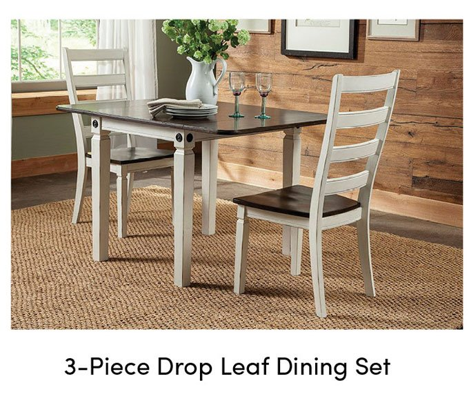 Drop-leaf-dining-set
