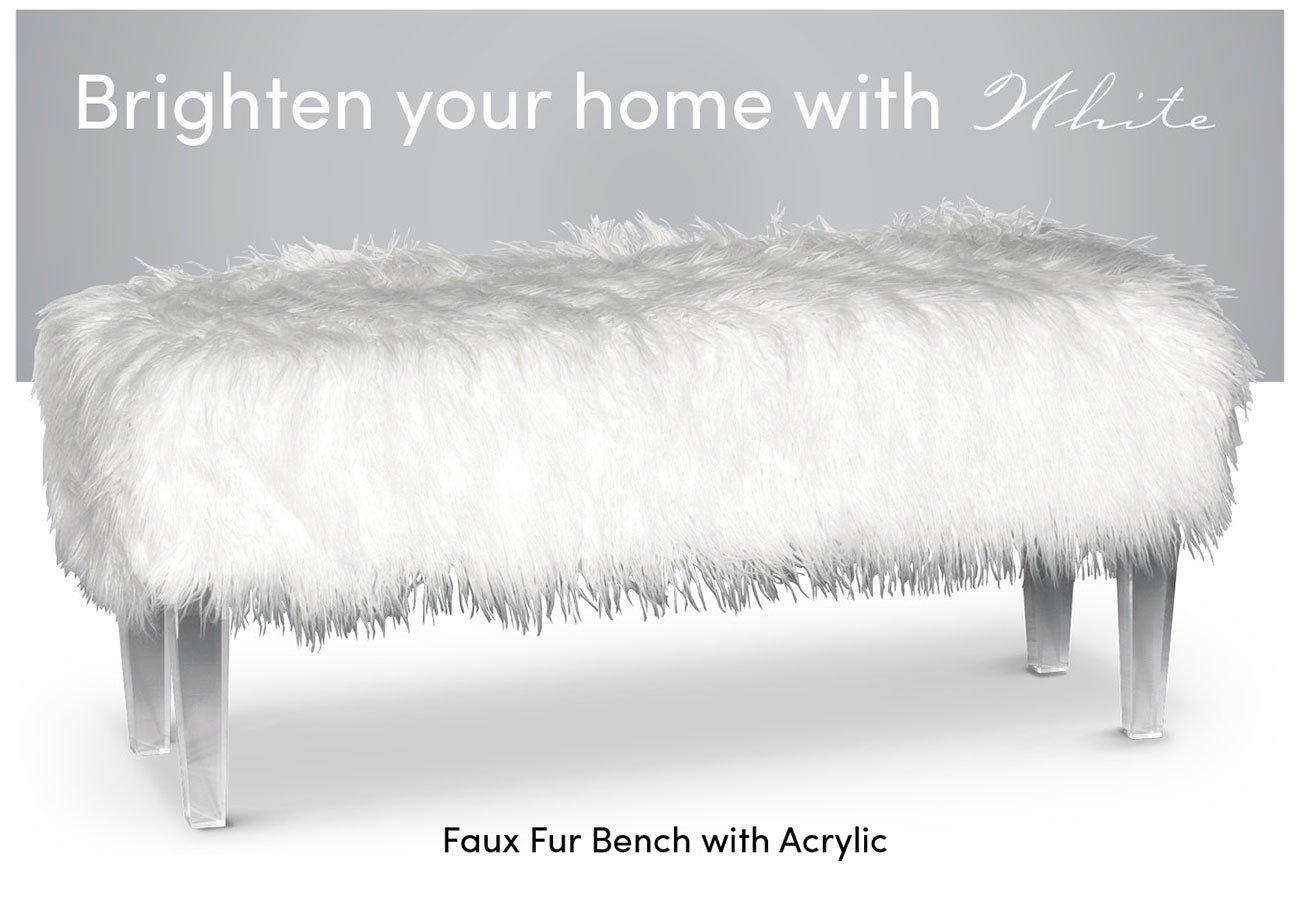 Faux-fur-bench